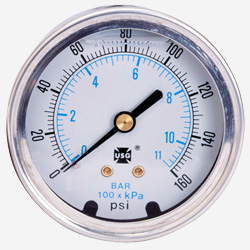 Model 1559 liquid filled pressure gauges